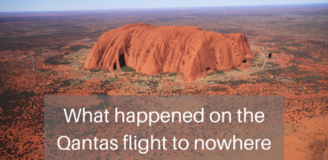 What happened on the Qantas flight to nowhere